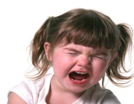 tantruming toddler